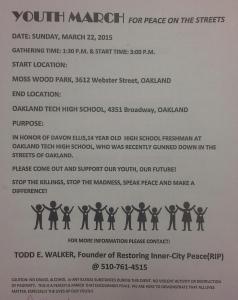 Davon Ellis March for Peace